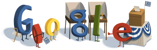 Google Logo: Parlementary ELections in Greece - 2012