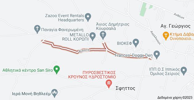 Χάρτης του/της Φιλιατή, Κρωπία 194 00