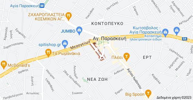 Χάρτης του/της Ηρ. Πολυτεχνείου, Αγ. Παρασκευή